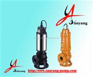 三洋牌排污泵,JYWQ潜水排污泵,排污泵工作原理,排污泵安装示意图