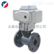 D941S-10K电动PVC法兰球阀