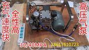 高壓容器檢測, 拋繩器充氣專用 高壓氣泵30Mpa