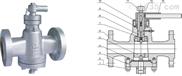 X347F美標壓力平衡式倒裝油密封旋塞閥