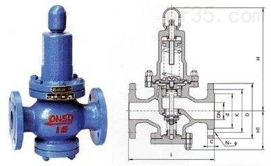 利用膜片直接传感下游压力驱动阀瓣,控制阀瓣开度完成减压稳压功能.