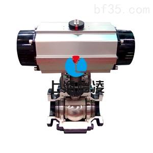 气动高压法兰球阀-q641n气动高压球阀-上海怡凌实业图片