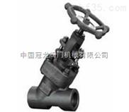 Y型锻钢截止阀 中国冠龙阀门机械有限公司