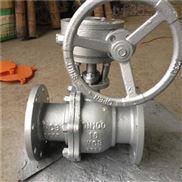 渦輪傳動碳鋼法蘭球閥